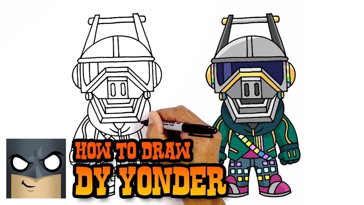 How to Draw DJ Yonder.