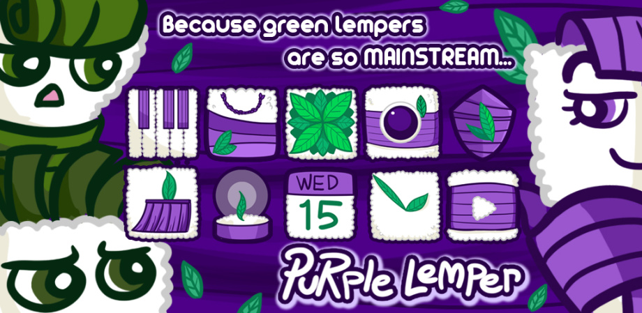 Purple Lemper CM Launcher theme by Rara Djamil on Dropr.