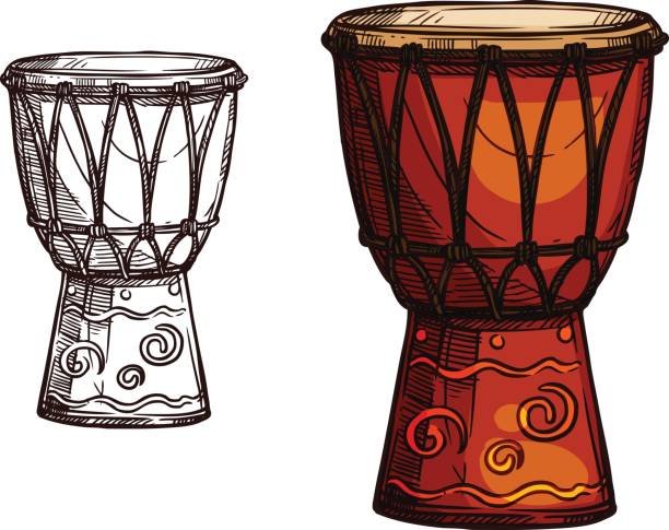 Best Djembe Illustrations, Royalty.