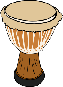 Djembe drum clipart.