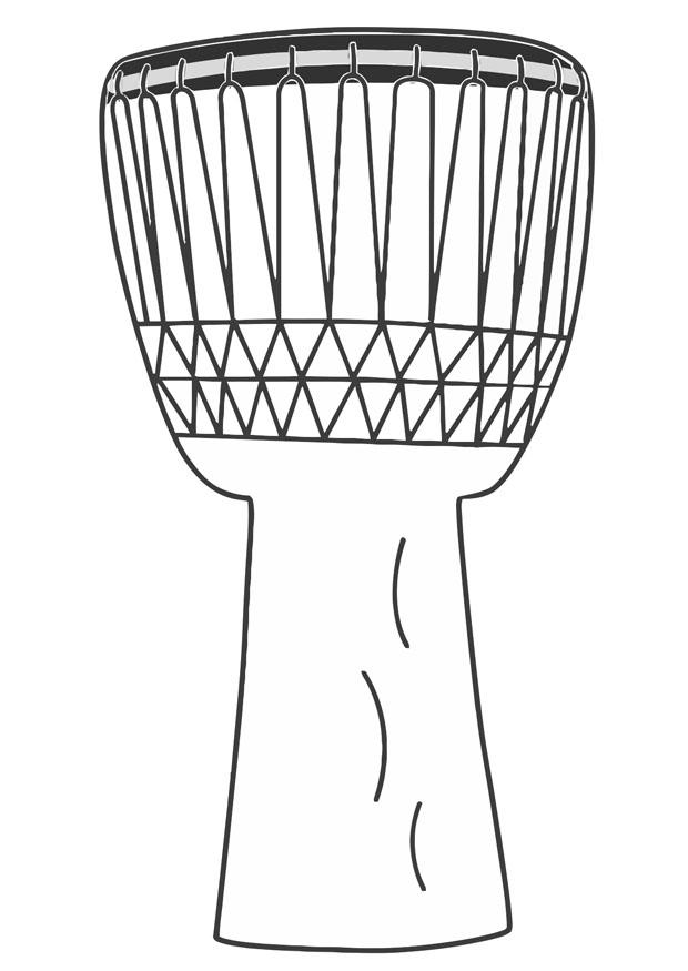 Djembe Drum Coloring Page.