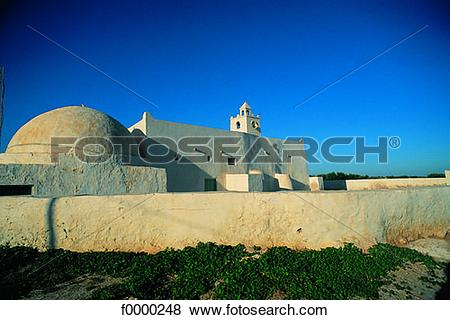 Pictures of Tunisia, Djerba Island, Mosque f0000248.