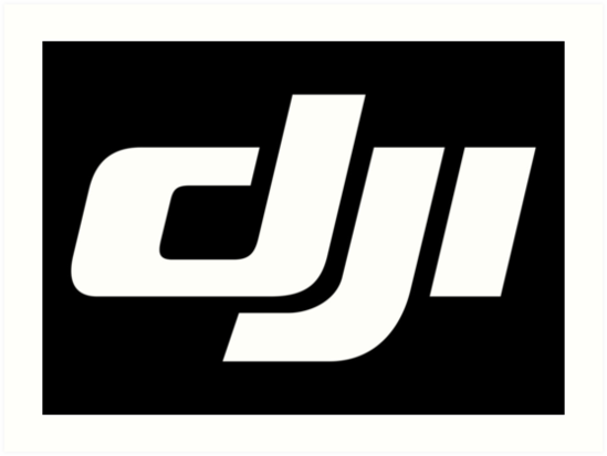 'DJI Logo Merchandise' Art Print by Linda Greene.