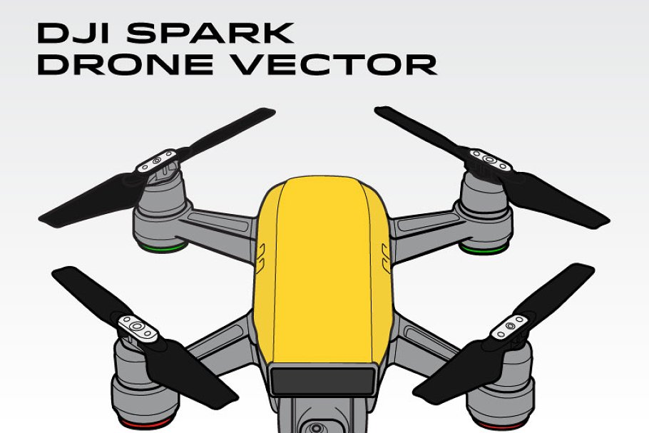 DJI Spark Drone Vector.