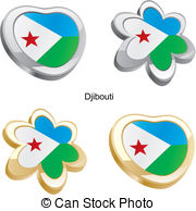 Vector Illustration of Djibouti flag.