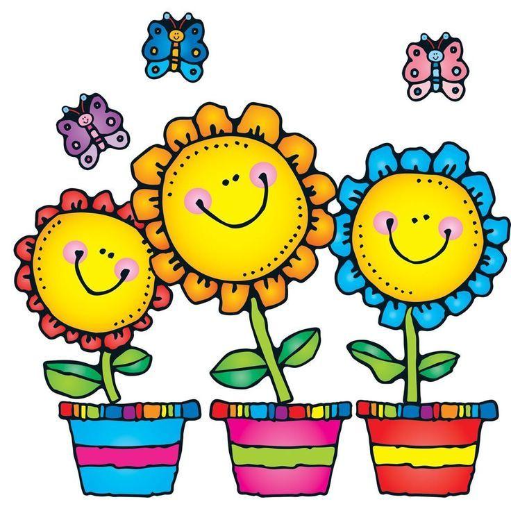 Dj Inkers Spring Clipart Cartoon Flowers Flower Bulletin Fabulous.