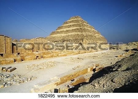 Stock Image of The Step Pyramid of Djoser, Saqqarah, Egypt 1822495.
