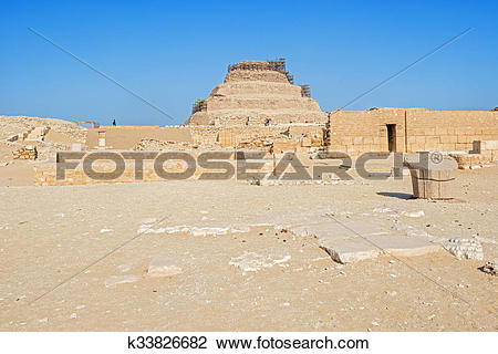 Stock Photo of Pyramid of Djoser, Egypt k33826682.