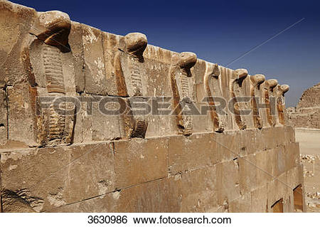 Stock Images of South tomb with frieze at the step pyramid of.