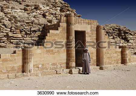 Stock Photography of Mastaba at the step pyramid of Djoser.