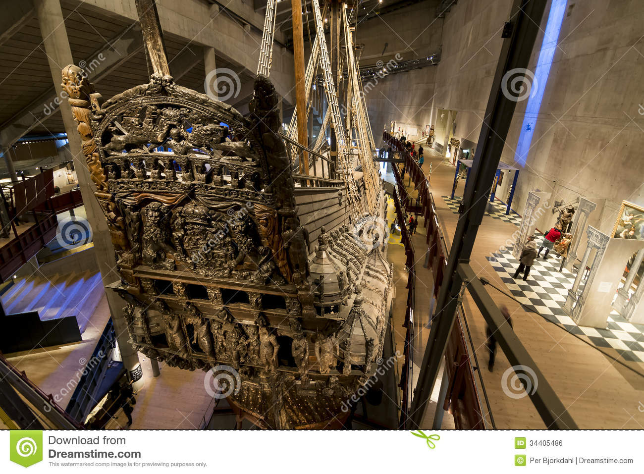 Warship Vasa, Stockholm Editorial Photo.