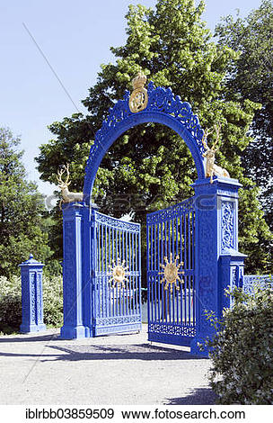 "Stock Photograph of ""Bla Porten, blue gate, entrance to the."