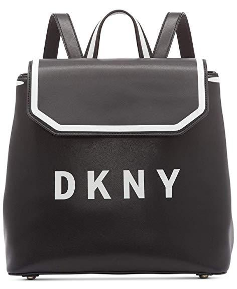 Amazon.com: DKNY Jade Flap Backpack (Black): Shoes.