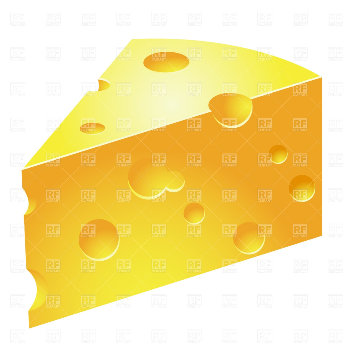 Swiss Cheese Slice Clipart.