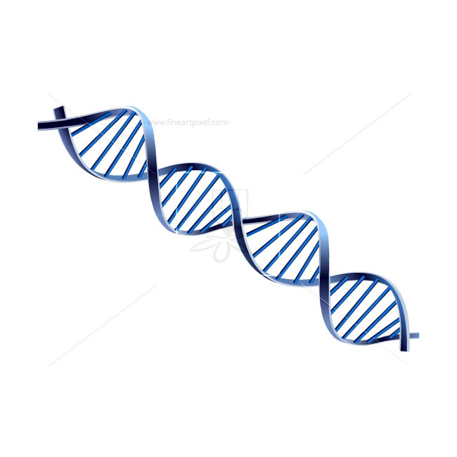 DNA Code Human Genome Symbol Isolated.