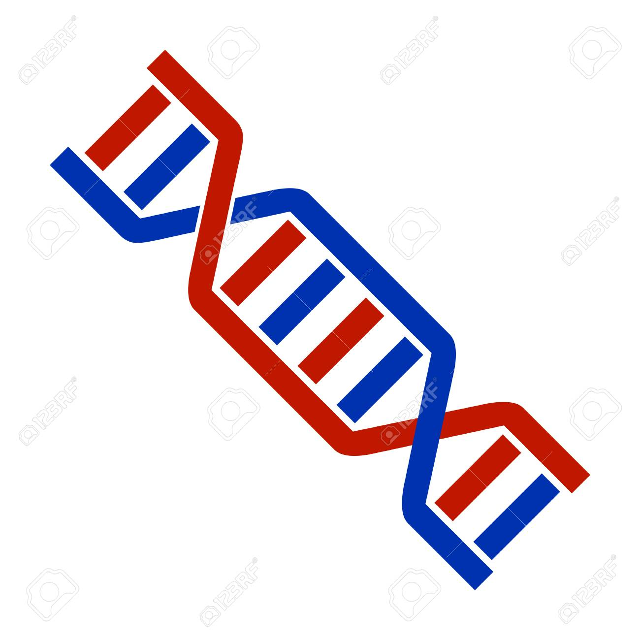 DNA Icon Symbol Design. Flat Vector illustration isolated on...