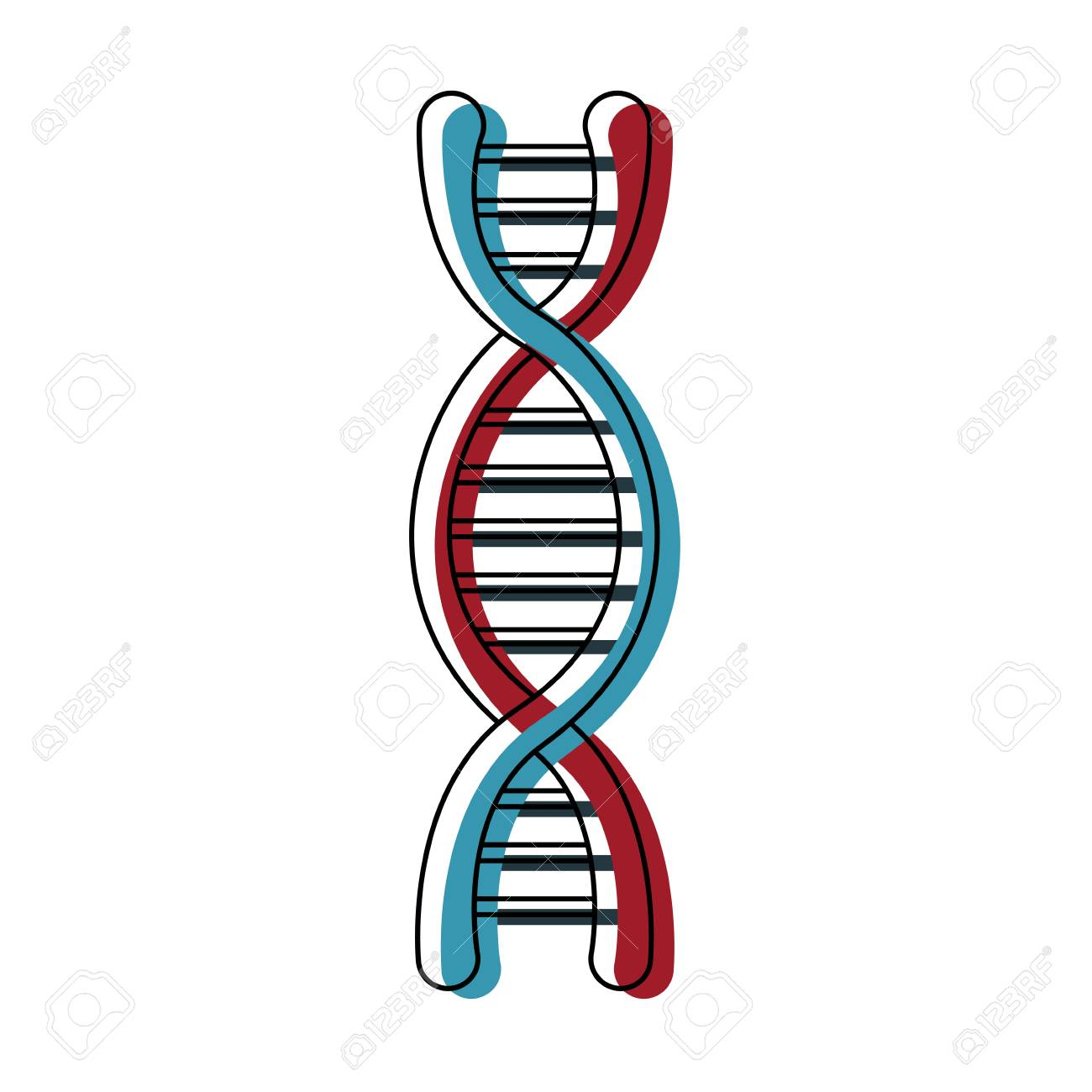 dna molecule structure science genetic structure vector illustration.