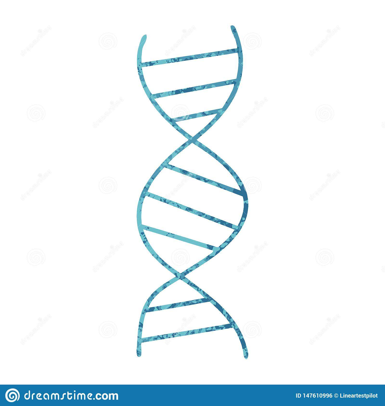 Cartoon Dna Dna Strand Science Chemisitry Biology Cute Illustration.