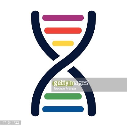 DNA colored strands.