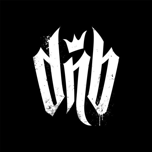 DnB Vector Lettering for Drum and Bass Fans.