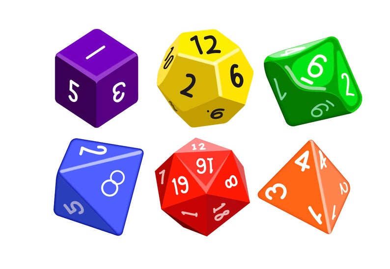 GAMING DICE CLIPART.