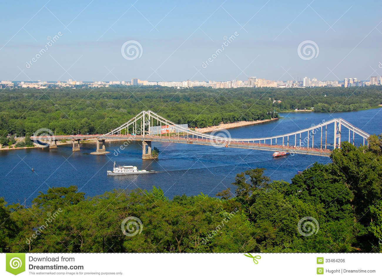 Dnieper River, Kiev Ukraine Royalty Free Stock Image.