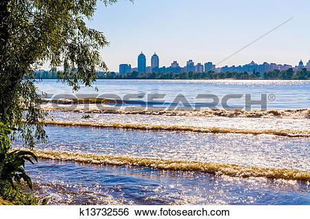 Stock Images of A view of the Dnieper River in Kiev k13732556.