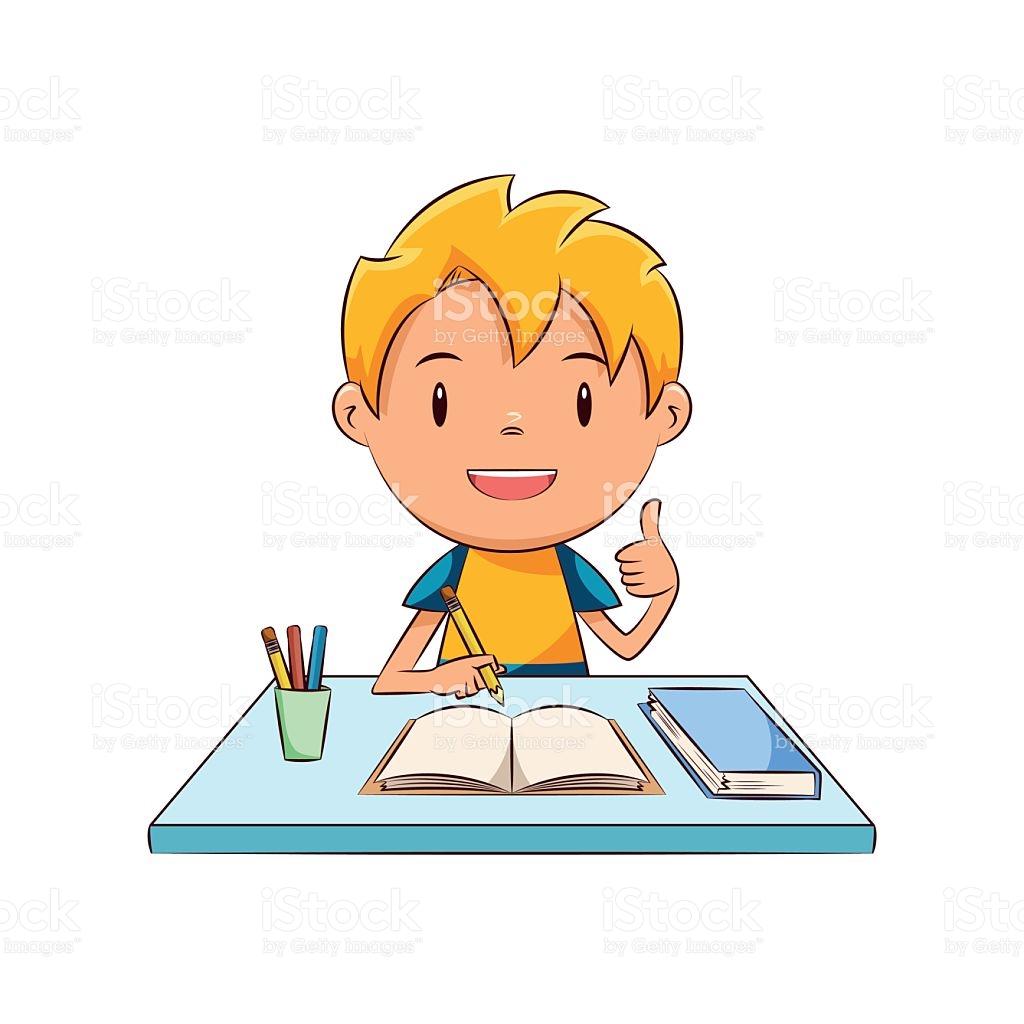 Boy doing homework clipart 8 » Clipart Station.