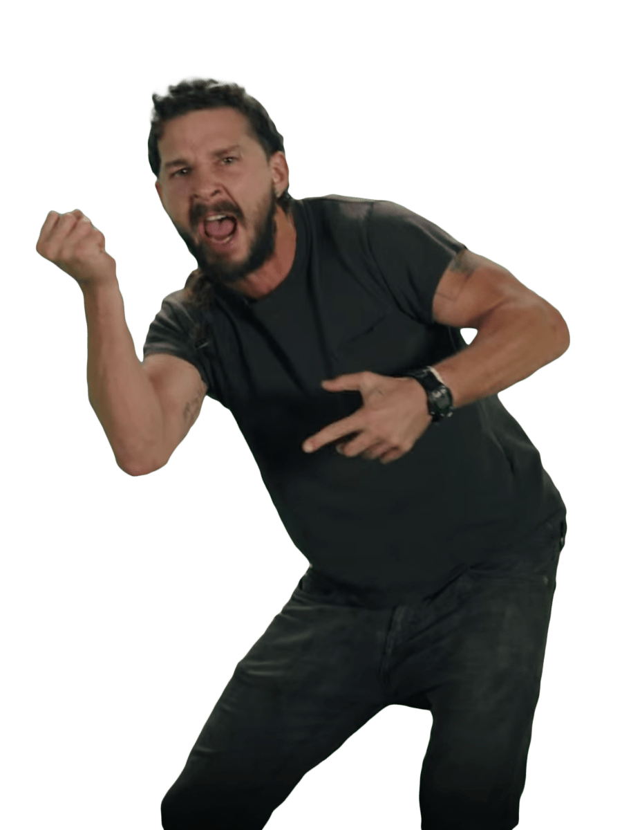 Just Do It Shia LaBeouf Fist transparent PNG.