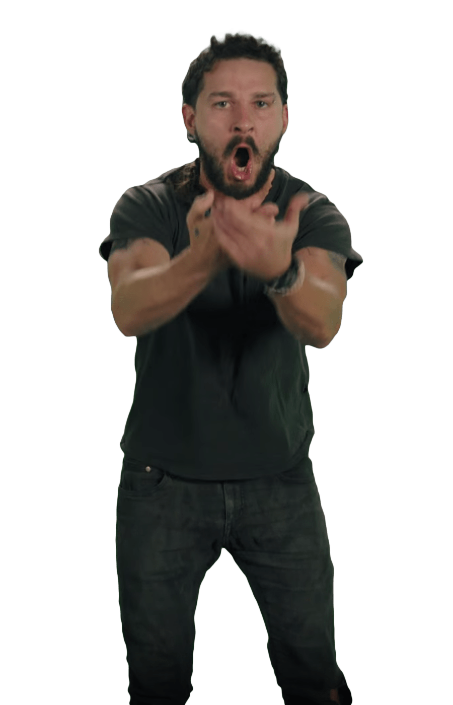 Just Do It Shia LaBeouf Angry transparent PNG.