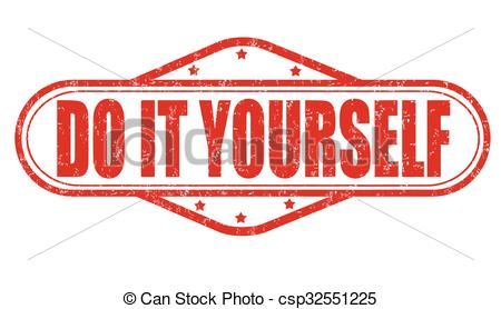 Vector Illustration of Do it yourself stamp.
