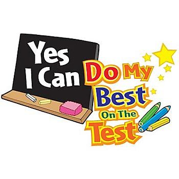 Do Your Best On The Test Clipart.