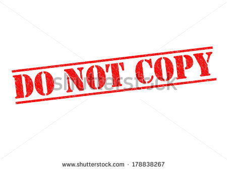 Do Not Copy Red Rubber Stamp Over A White Background. Stock Photo.