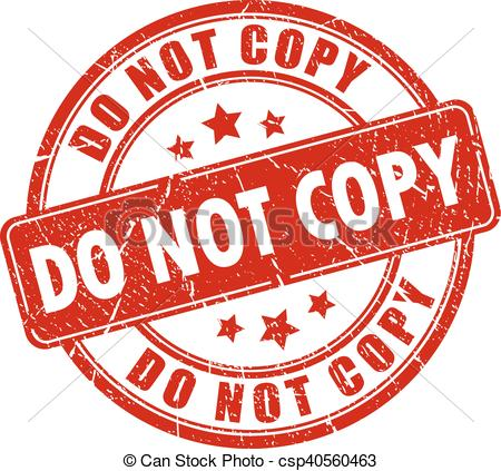 Clip Art Vector of Do not copy rubber stamp.