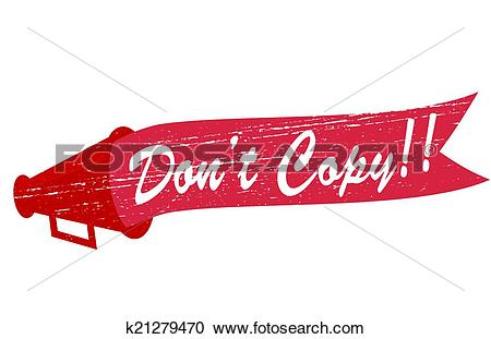 Clipart of Do not copy k21279470.