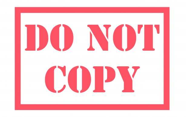 Do Not Copy Stamp Free Stock Photo.