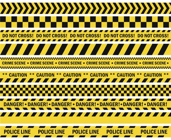 Caution, Tape, Do not cross, Police, Crime, Danger.