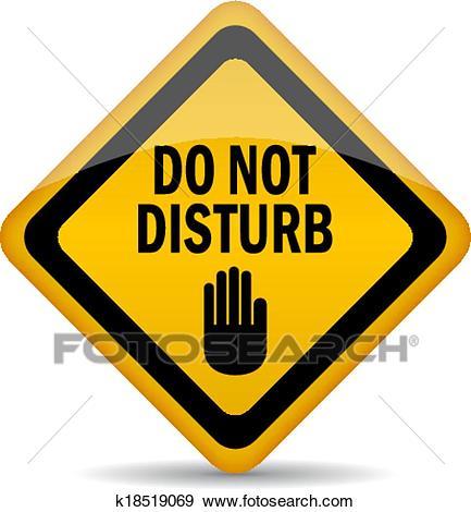 Do not disturb Clip Art.