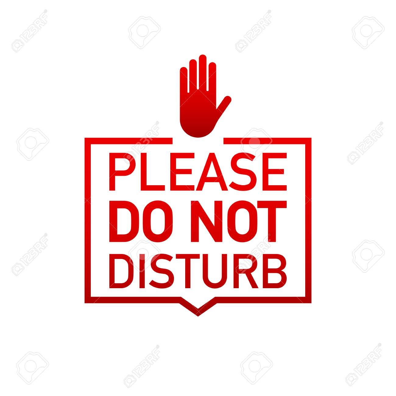 Please do not disturb label on white background. Vector stock...