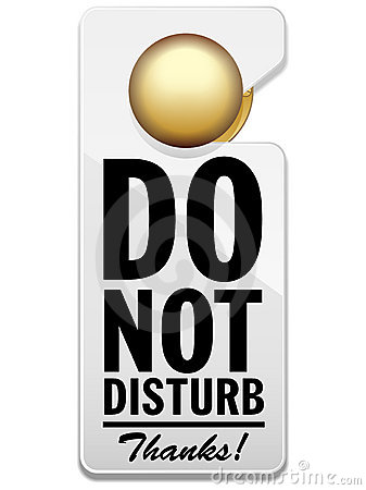 78+ Do Not Disturb Clipart.