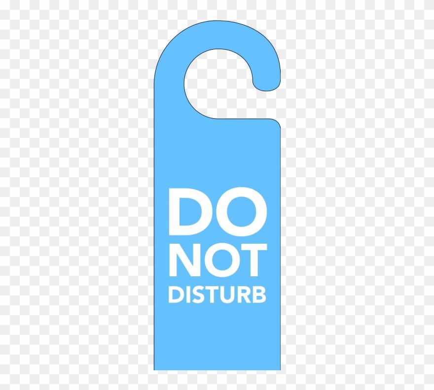 Blue Do Not Disturb Door Hanger.