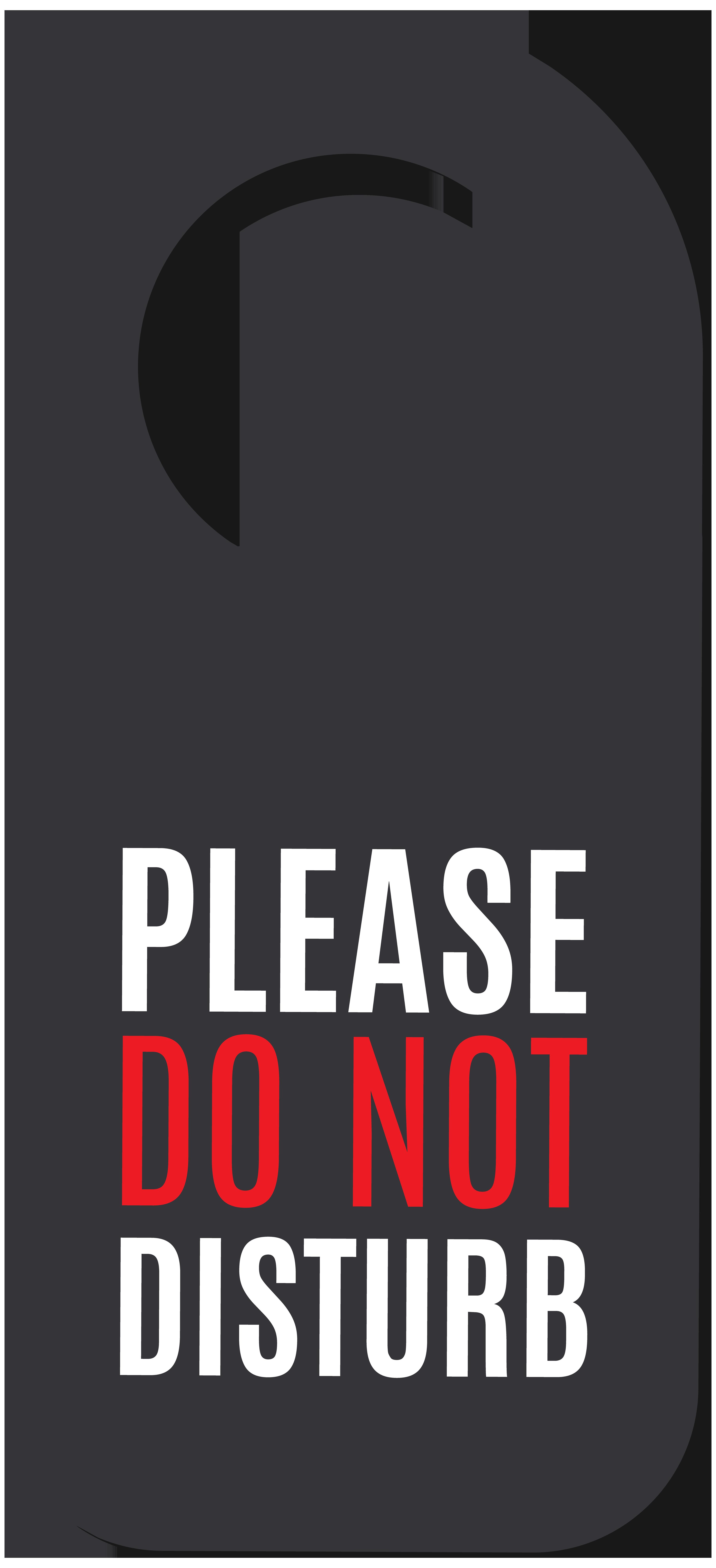 Please Do Not Disturb Label PNG Image.