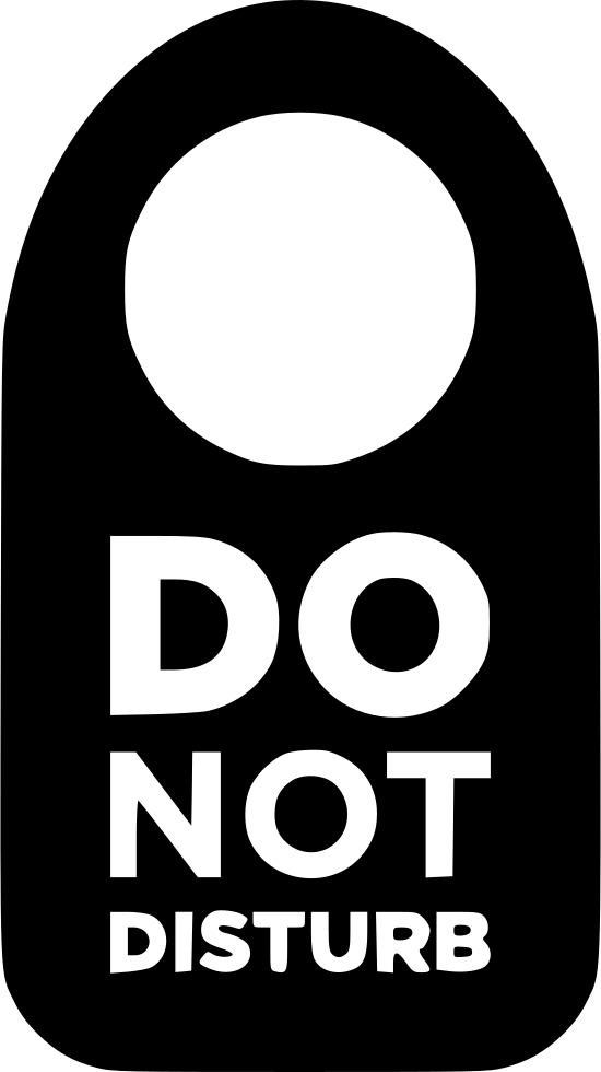Do Not Disturb Svg Png Icon Free Download (#481240).