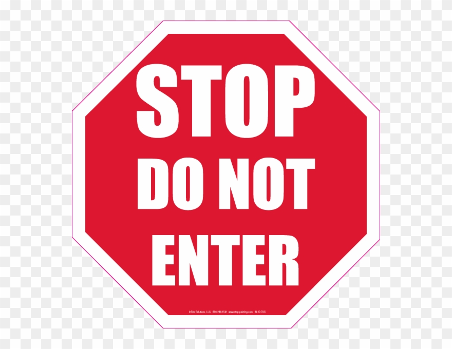 Free Do Not Enter Signs Coloring Pages.