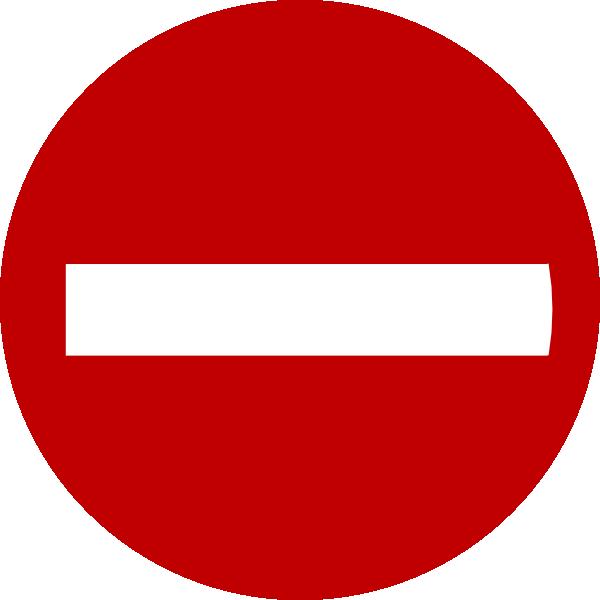Do Not Enter Clip Art at Clker.com.