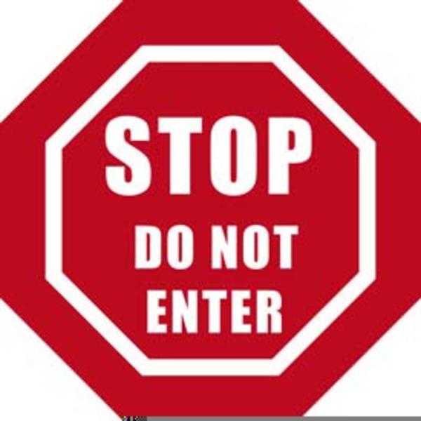 Clipart Do Not Enter Sign.