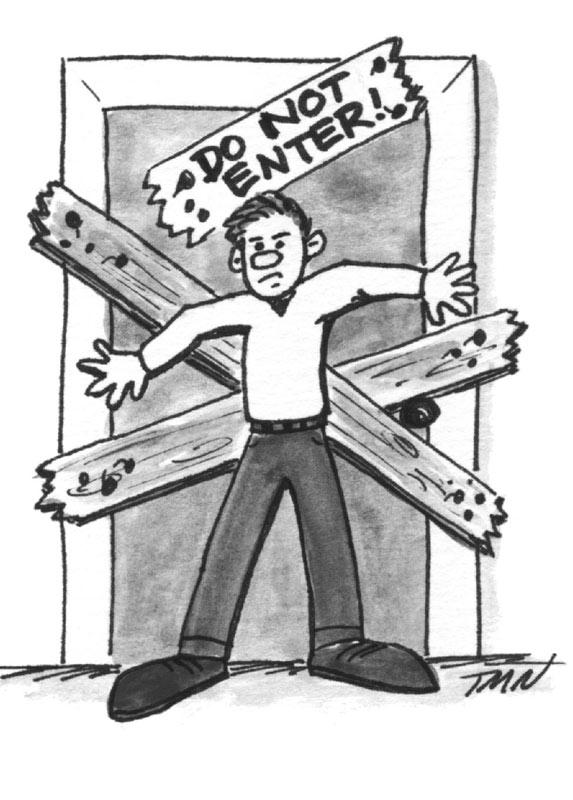 Do Not Enter Door Clipart.