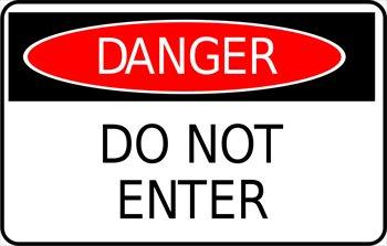 Danger do not enter clip art.