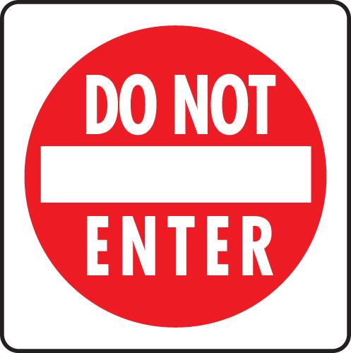 Clipart do not enter.
