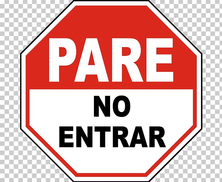 Spanish Stop Sign PNG, Clipart, Area, Brand, Clip Art, Do Not Enter.